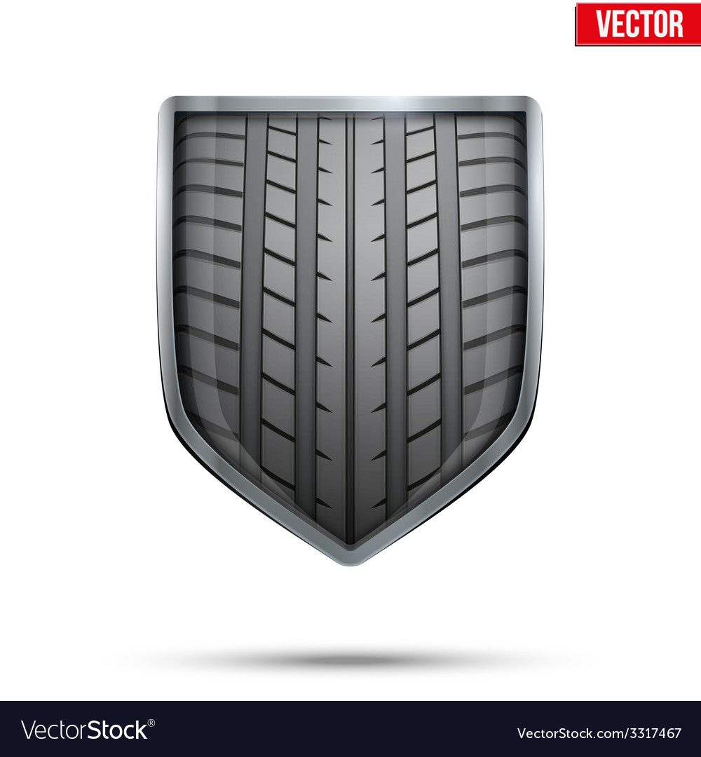 Bright shield in the racing tire inside vector | Price: 1 Credit (USD $1)