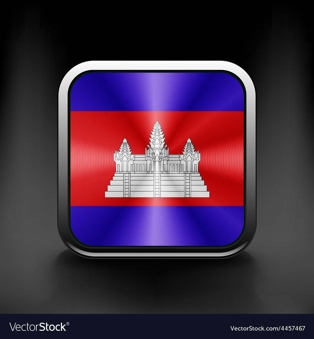 Cambodia icon flag national travel icon country vector | Price: 1 Credit (USD $1)