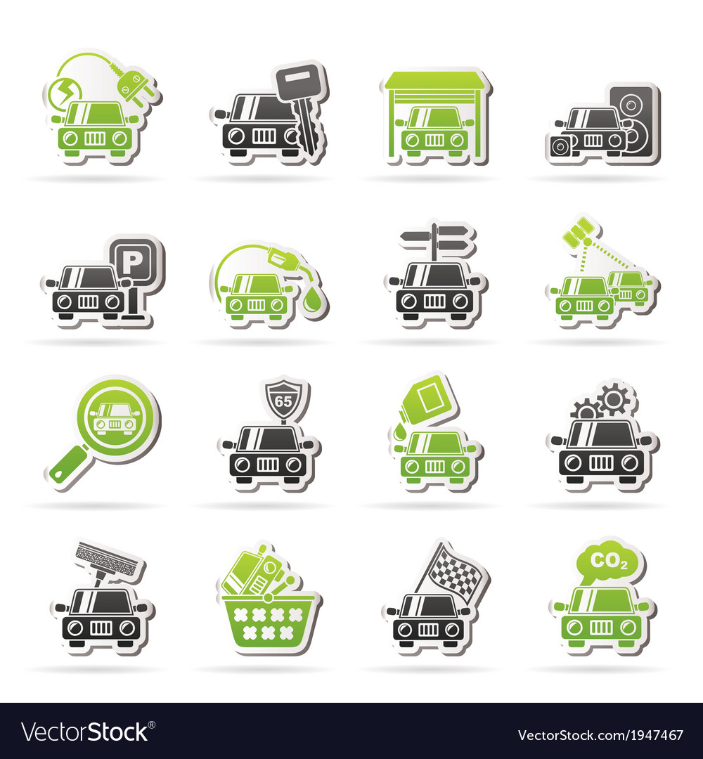 Car and road services icons vector | Price: 1 Credit (USD $1)