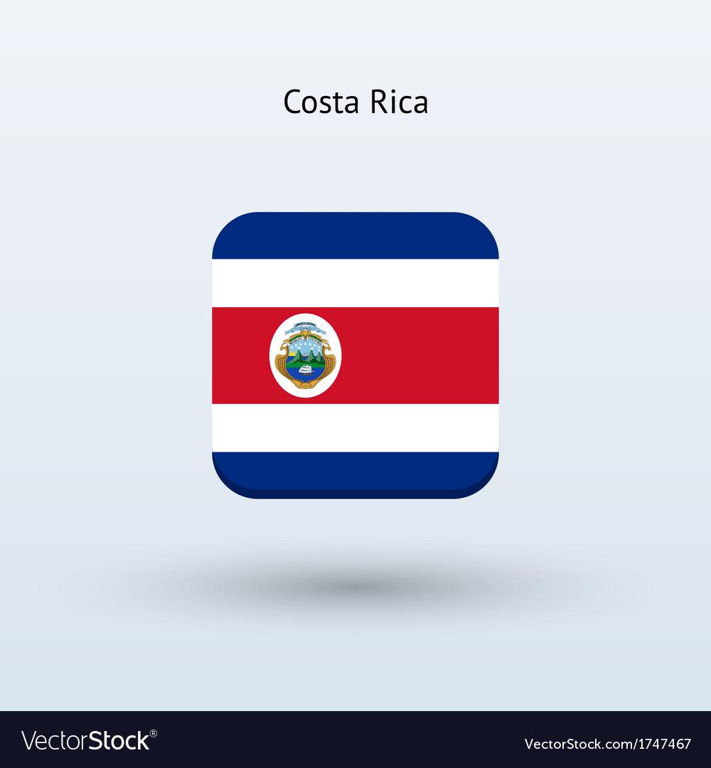 Costa rica flag icon vector | Price: 1 Credit (USD $1)