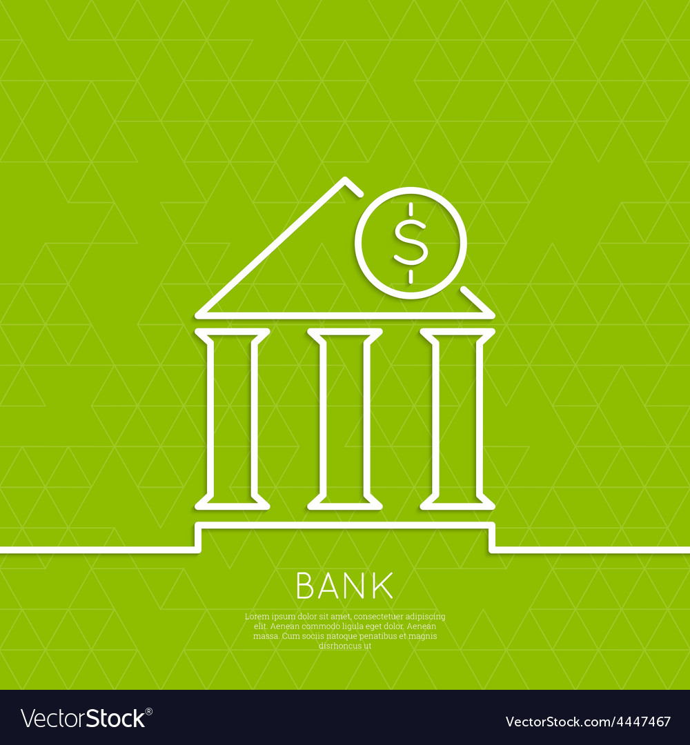 Financial institution with a coin vector | Price: 1 Credit (USD $1)