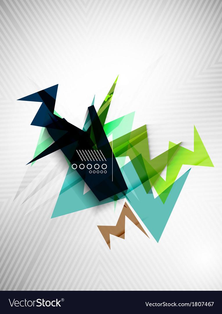 Geometric shape line lightning business background vector | Price: 1 Credit (USD $1)