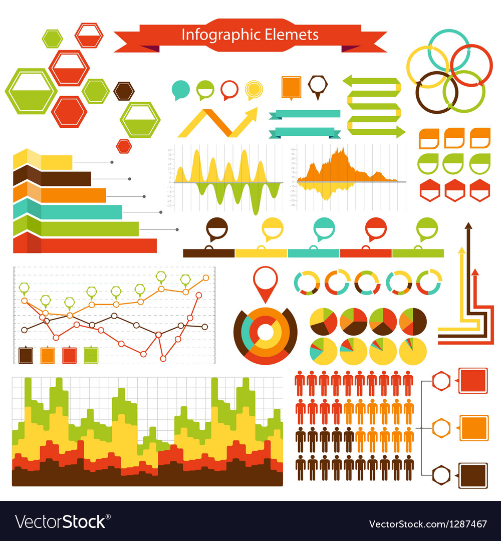 Info graphics elements collection vector | Price: 1 Credit (USD $1)