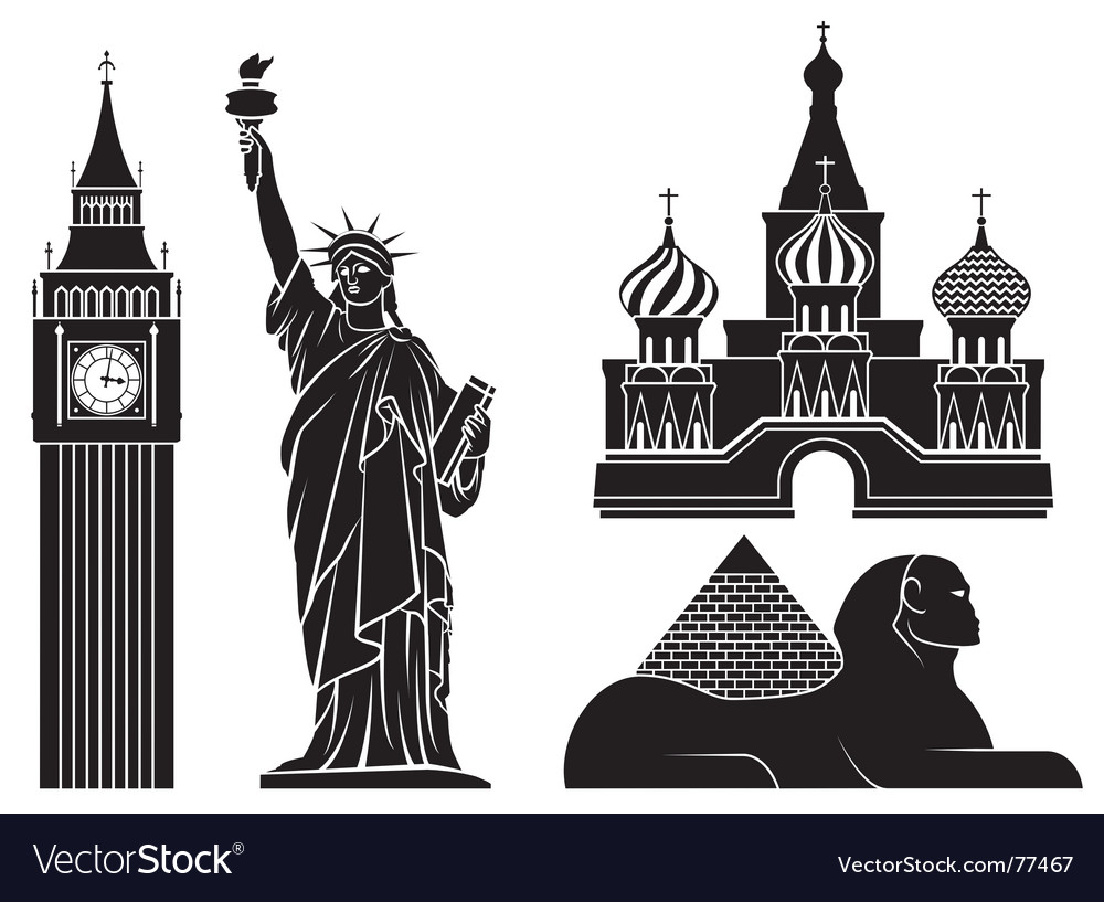 Landmarks vector | Price: 1 Credit (USD $1)