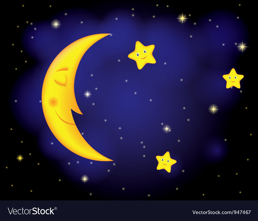 Moon stars vector | Price: 1 Credit (USD $1)