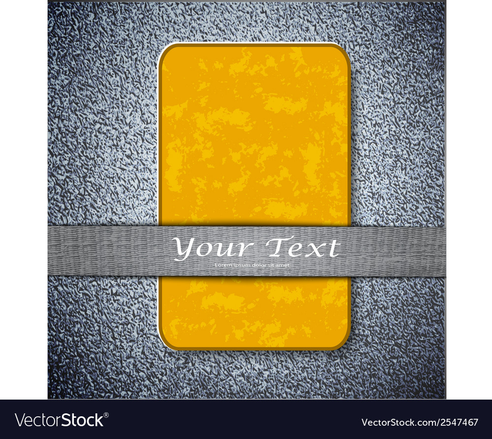 Orange card texture on a metal background with vector | Price: 1 Credit (USD $1)