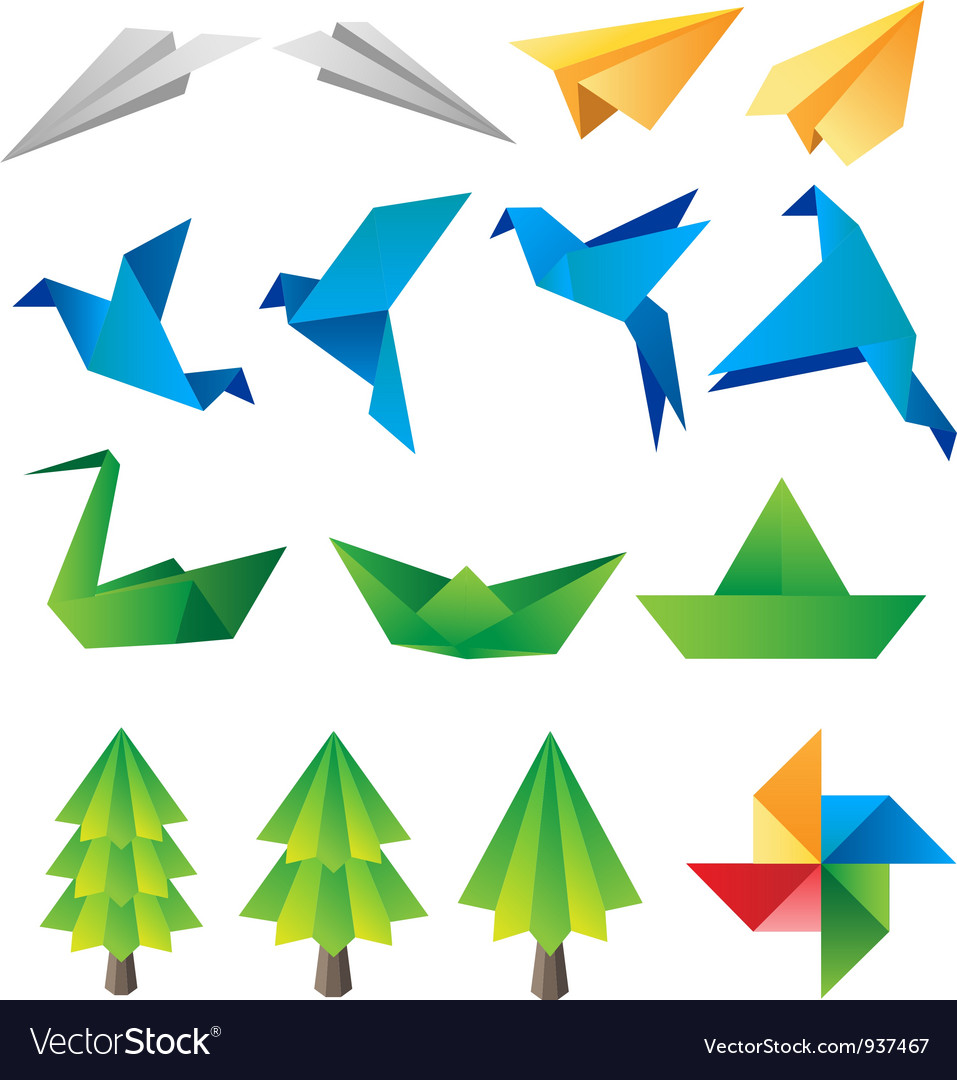 Origami vector | Price: 1 Credit (USD $1)