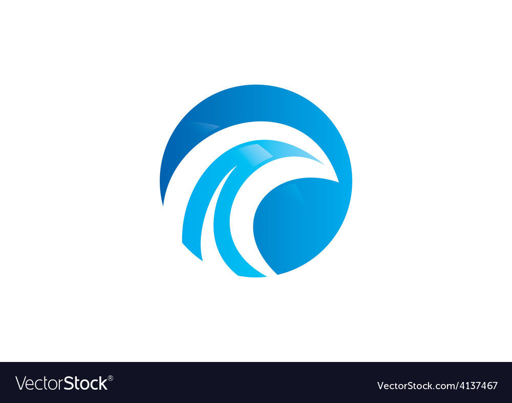 Round wave water abstract logo vector | Price: 1 Credit (USD $1)