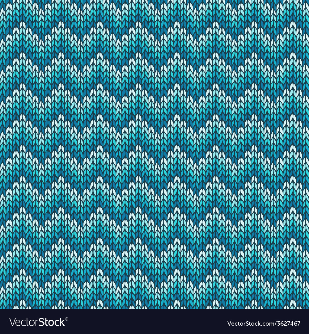 Seamless pattern with knitted chevron ornament vector | Price: 1 Credit (USD $1)