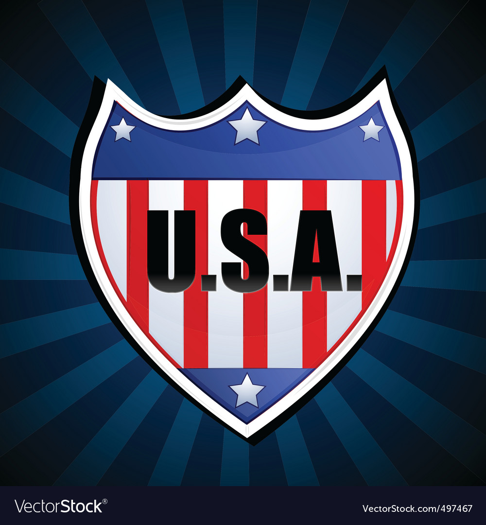 Usa shield vector | Price: 1 Credit (USD $1)