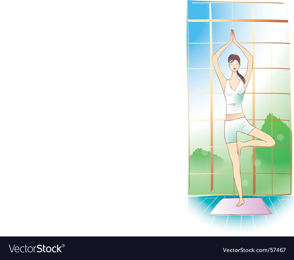 Yoga girl vector | Price: 1 Credit (USD $1)