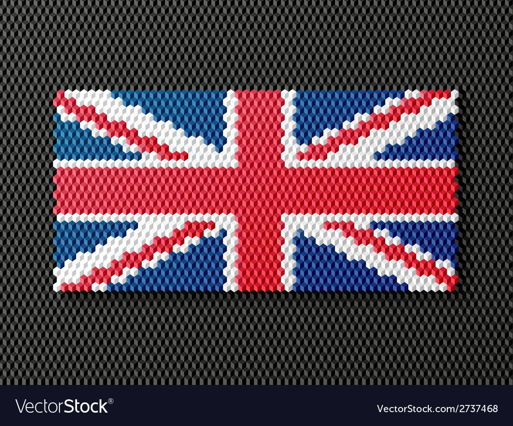 British flag consisting of 3d cubes vector | Price: 1 Credit (USD $1)
