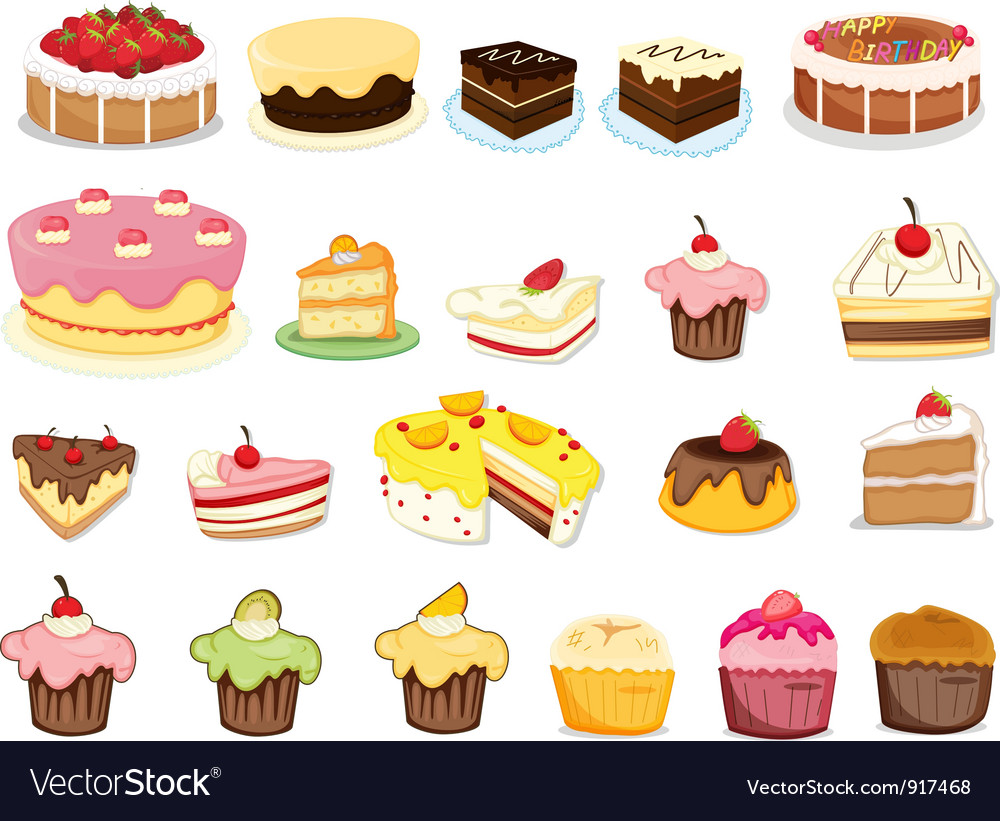 Cake collection vector | Price: 3 Credit (USD $3)