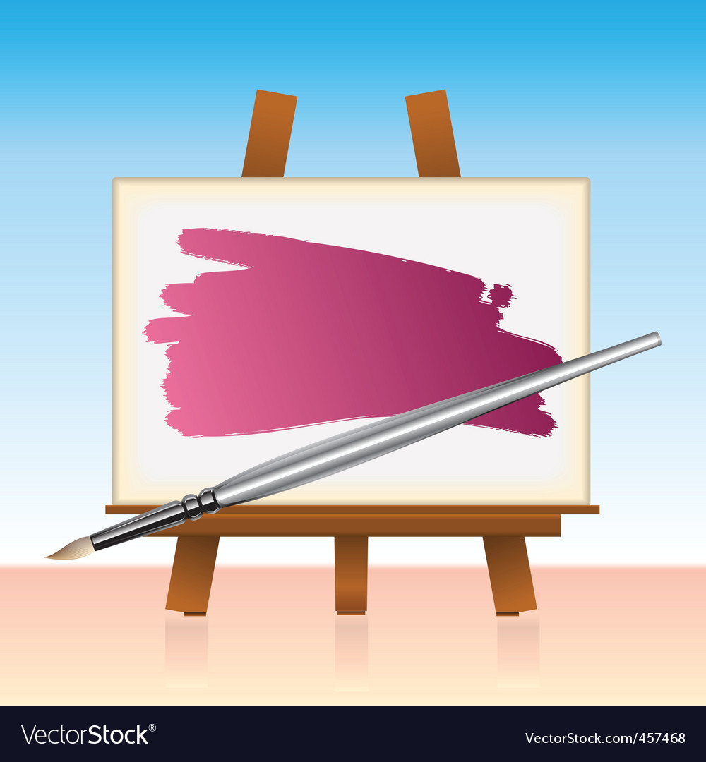 Canvas board and color brush vector   Price: 1 Credit (USD $1)