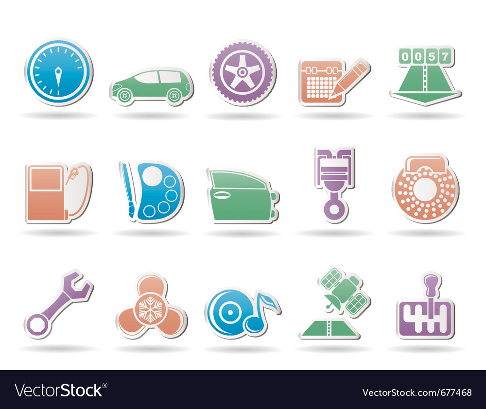 Car and motoring icons vector | Price: 1 Credit (USD $1)