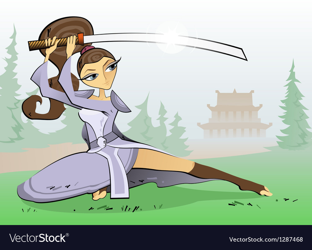 Female samurai vector | Price: 1 Credit (USD $1)