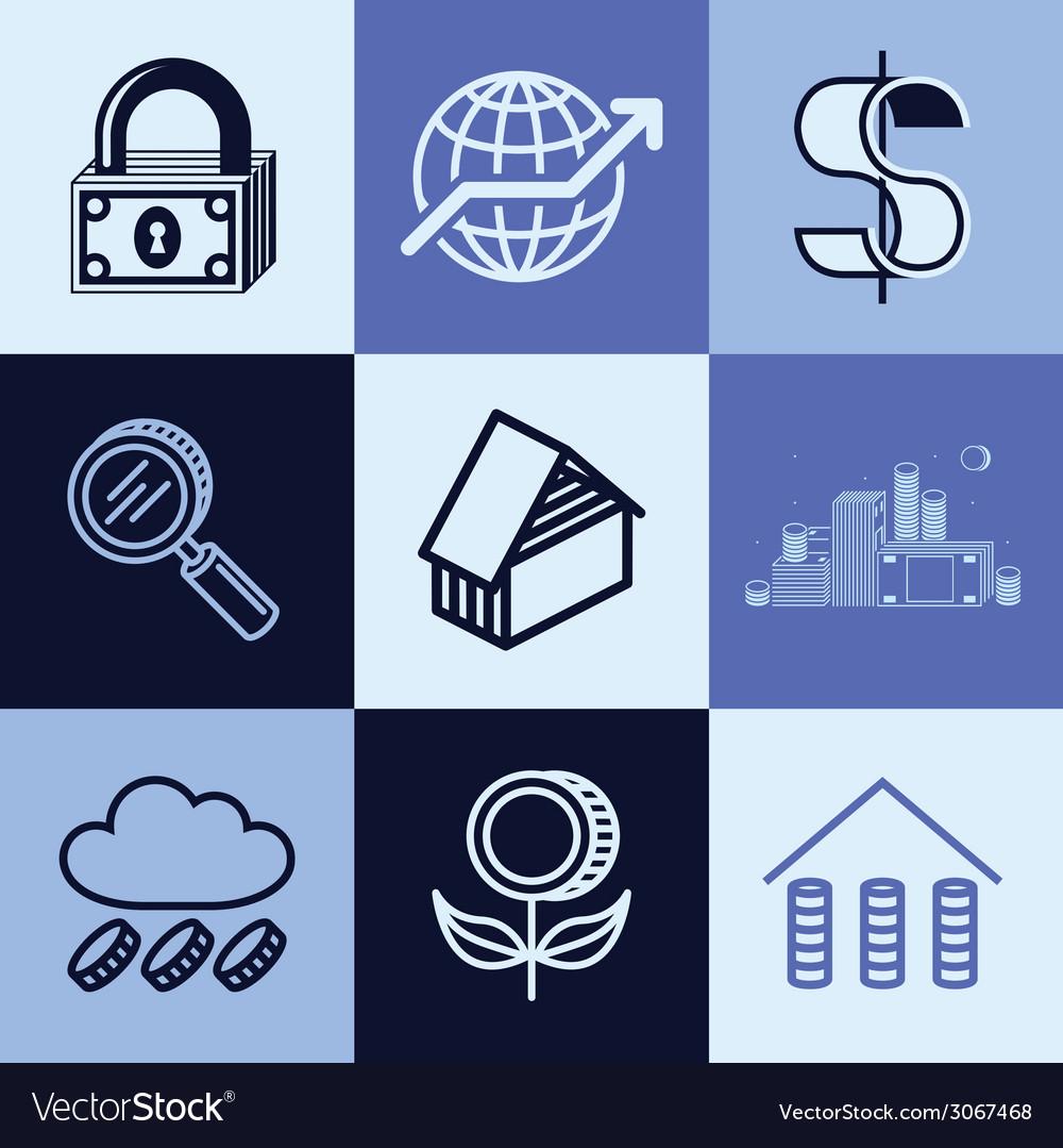 Finances logo icons vector | Price: 1 Credit (USD $1)