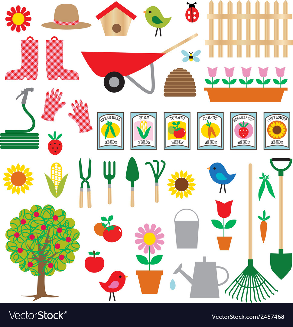 Gardening clipart vector | Price: 1 Credit (USD $1)