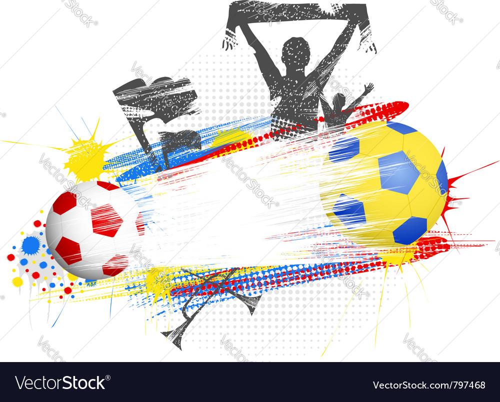 Grunge football frame vector   Price: 1 Credit (USD $1)