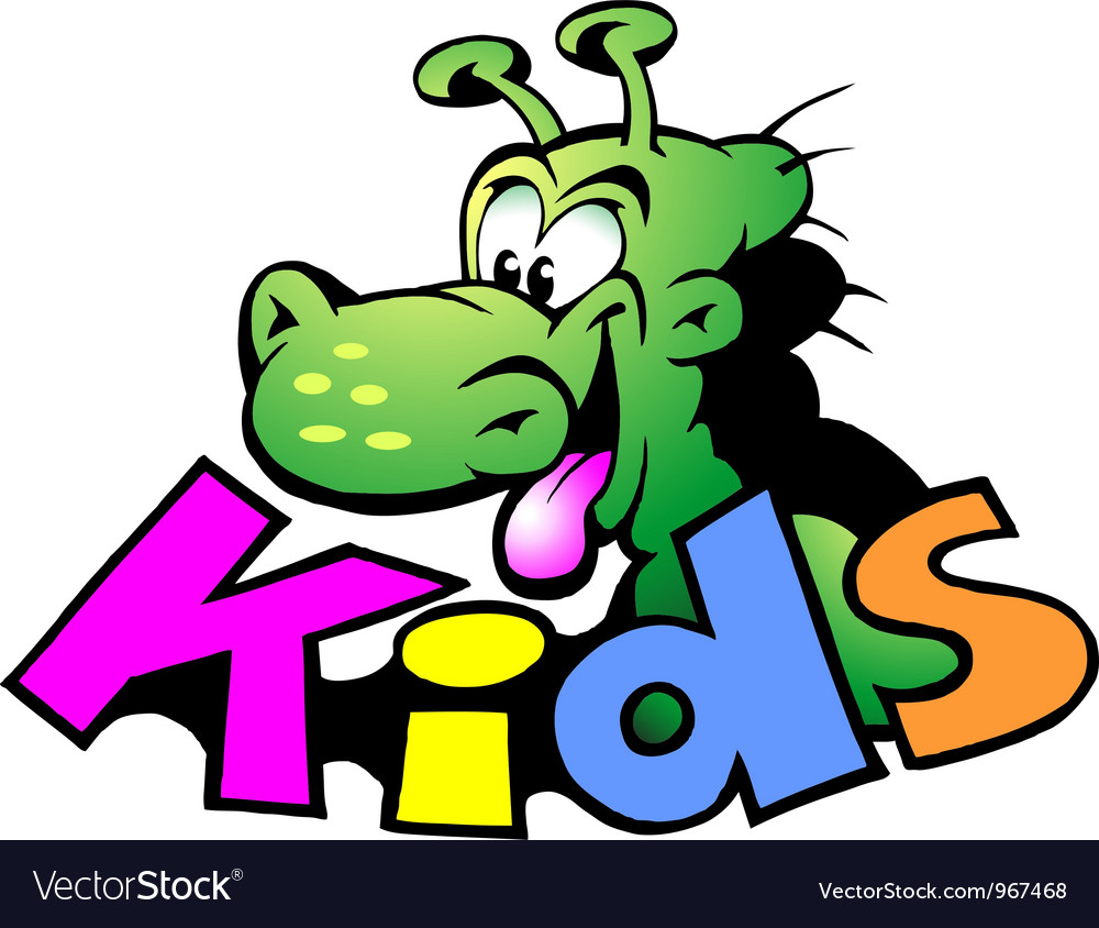 Hand-drawn of an dinosaur logo for kids vector | Price: 1 Credit (USD $1)