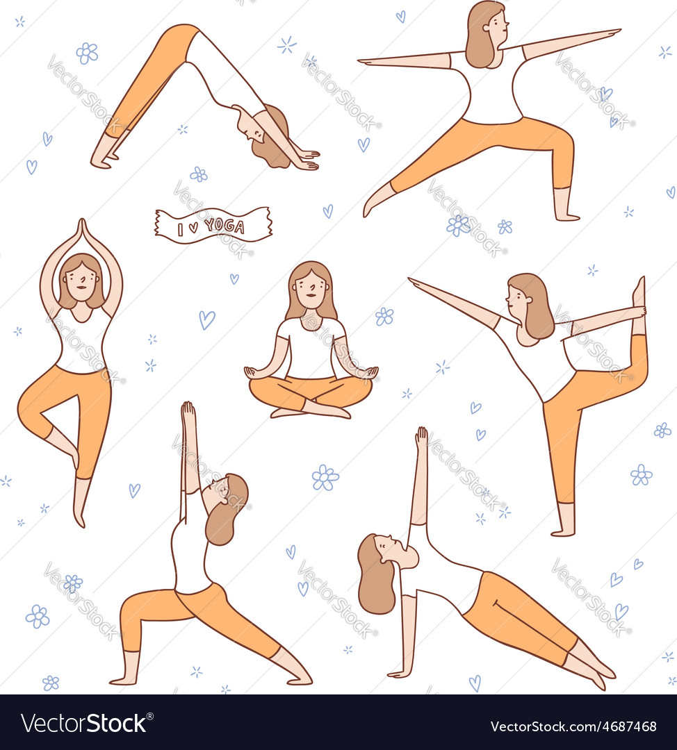 I love yoga vector | Price: 1 Credit (USD $1)