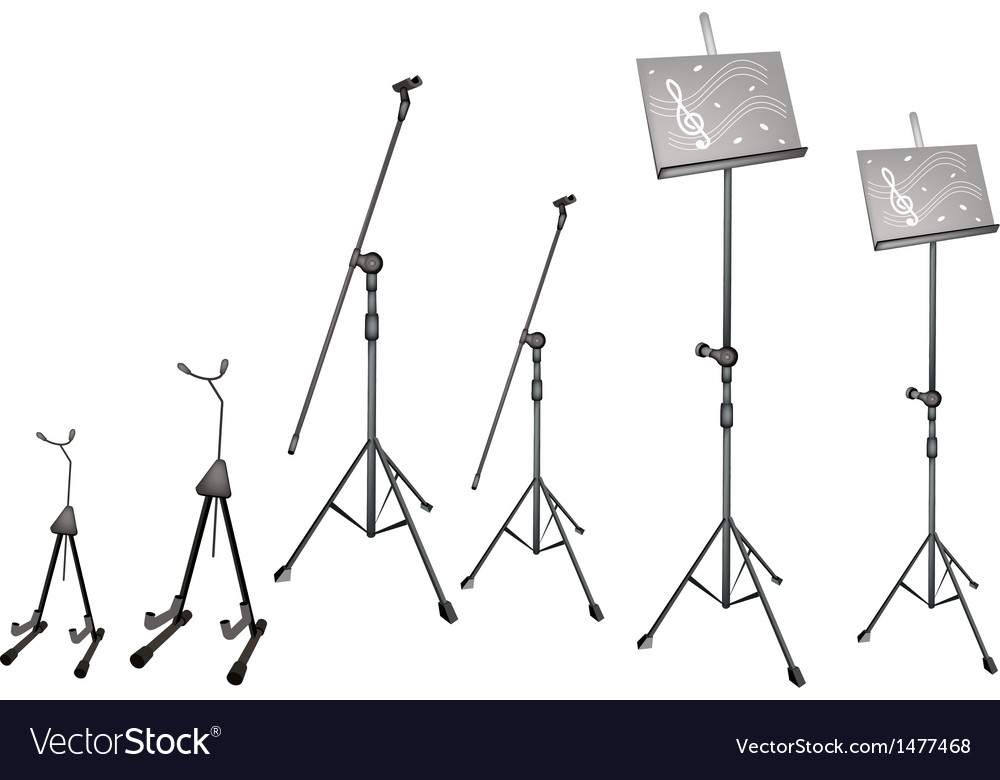 Music microphone guitar stand vector | Price: 1 Credit (USD $1)