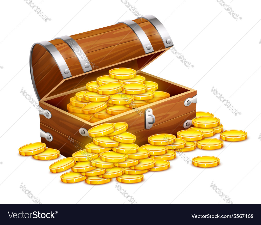 Pirates trunk chest full of vector | Price: 3 Credit (USD $3)