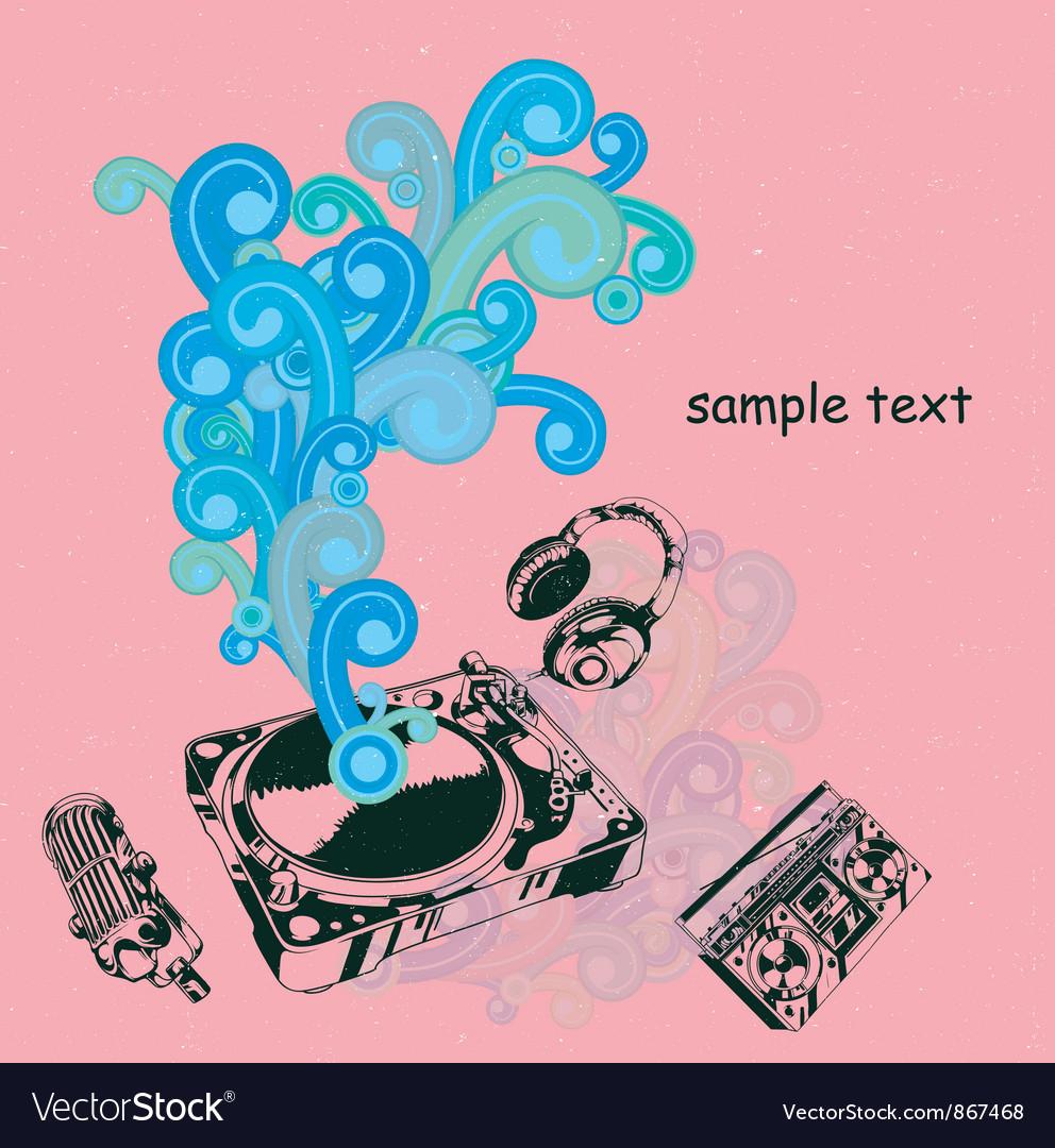 Retro music poster vector | Price: 1 Credit (USD $1)
