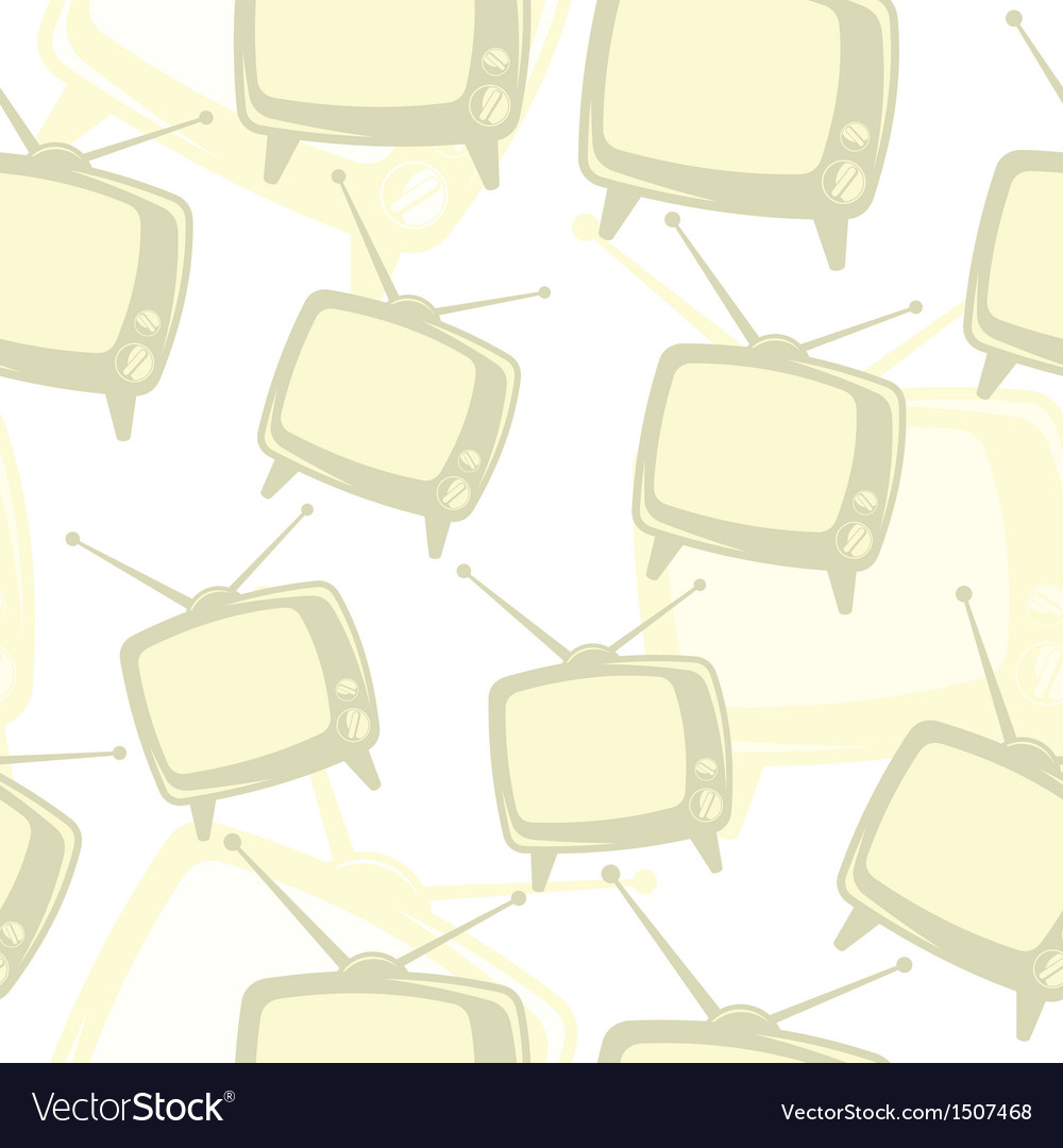 Retro tv icon pattern vector | Price: 1 Credit (USD $1)