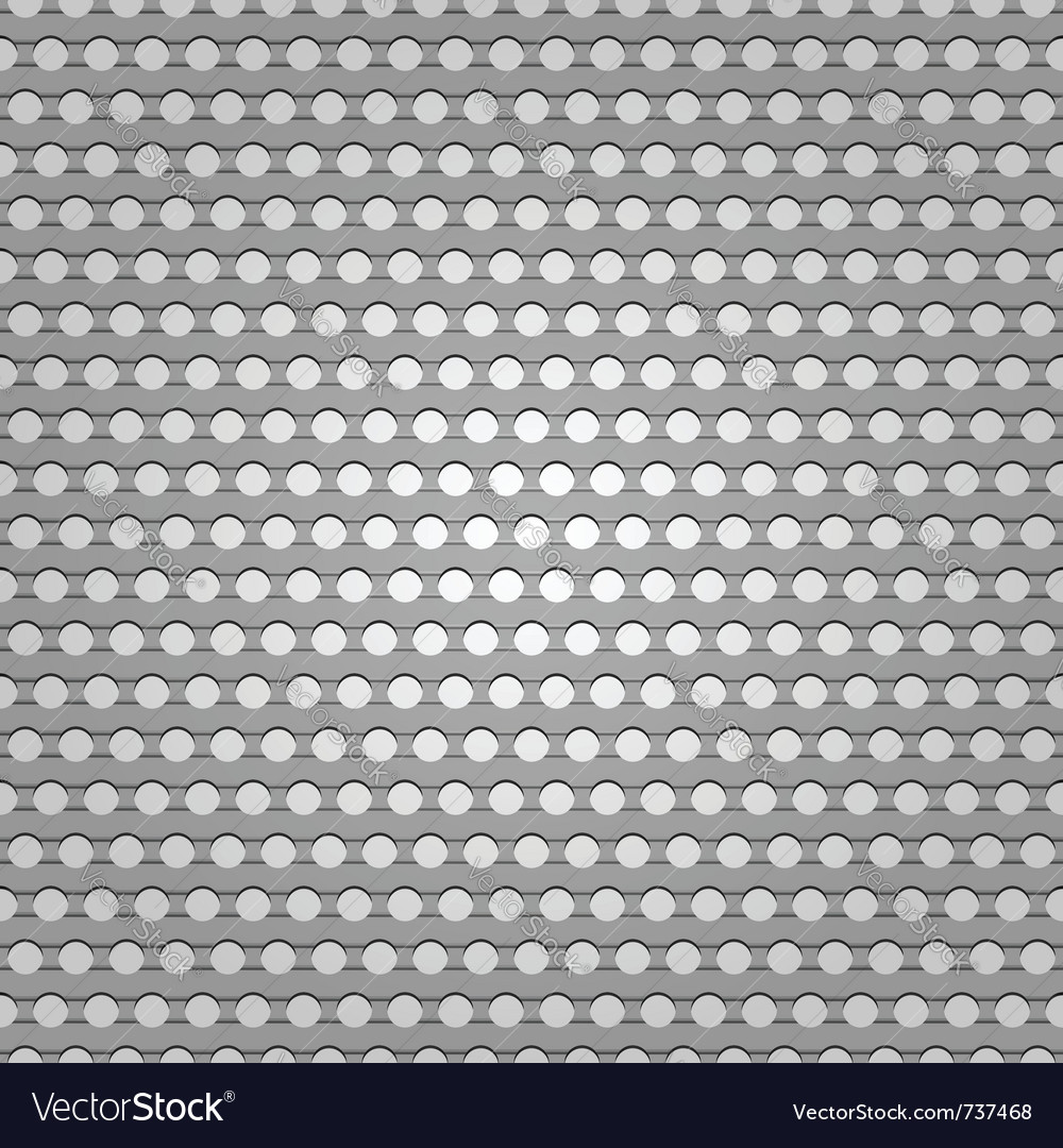 Seamless metal surface background perforated sheet vector | Price: 1 Credit (USD $1)