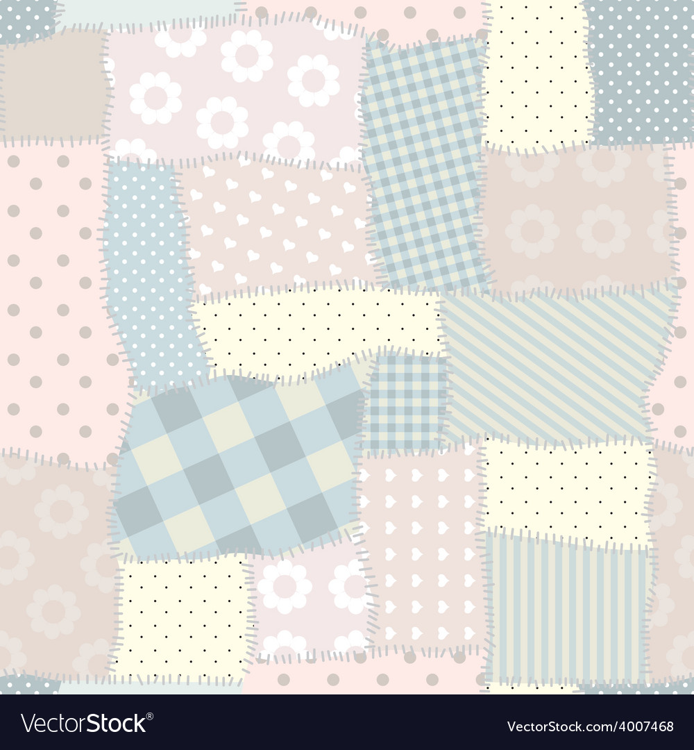 Seamless patchwork pattern vector   Price: 1 Credit (USD $1)