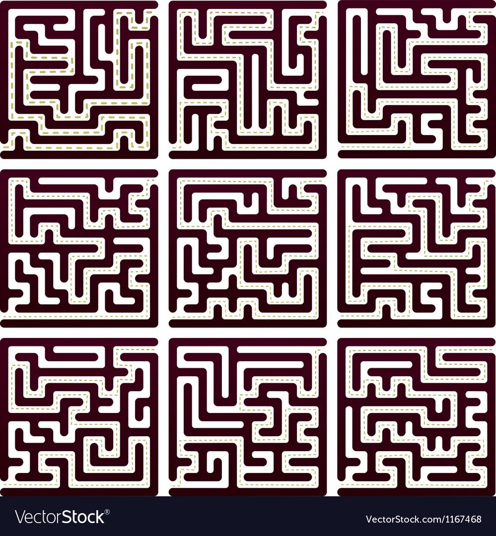 Set of maze vector | Price: 1 Credit (USD $1)