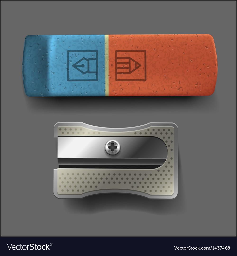 Sharpener and eraser vector | Price: 1 Credit (USD $1)