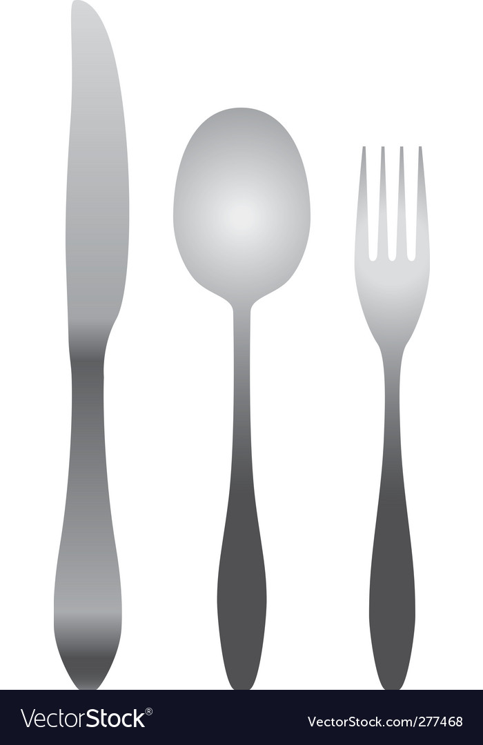 Spoon fork and knife vector | Price: 1 Credit (USD $1)