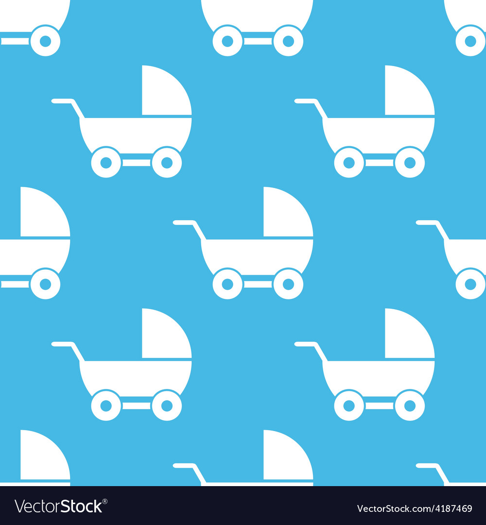 Baby carriage seamless pattern vector | Price: 1 Credit (USD $1)