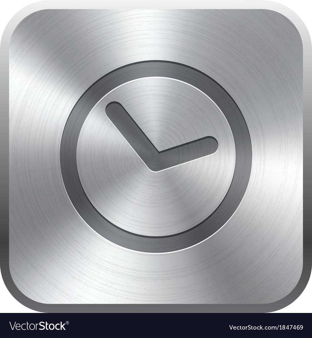 Clock icon button vector | Price: 1 Credit (USD $1)