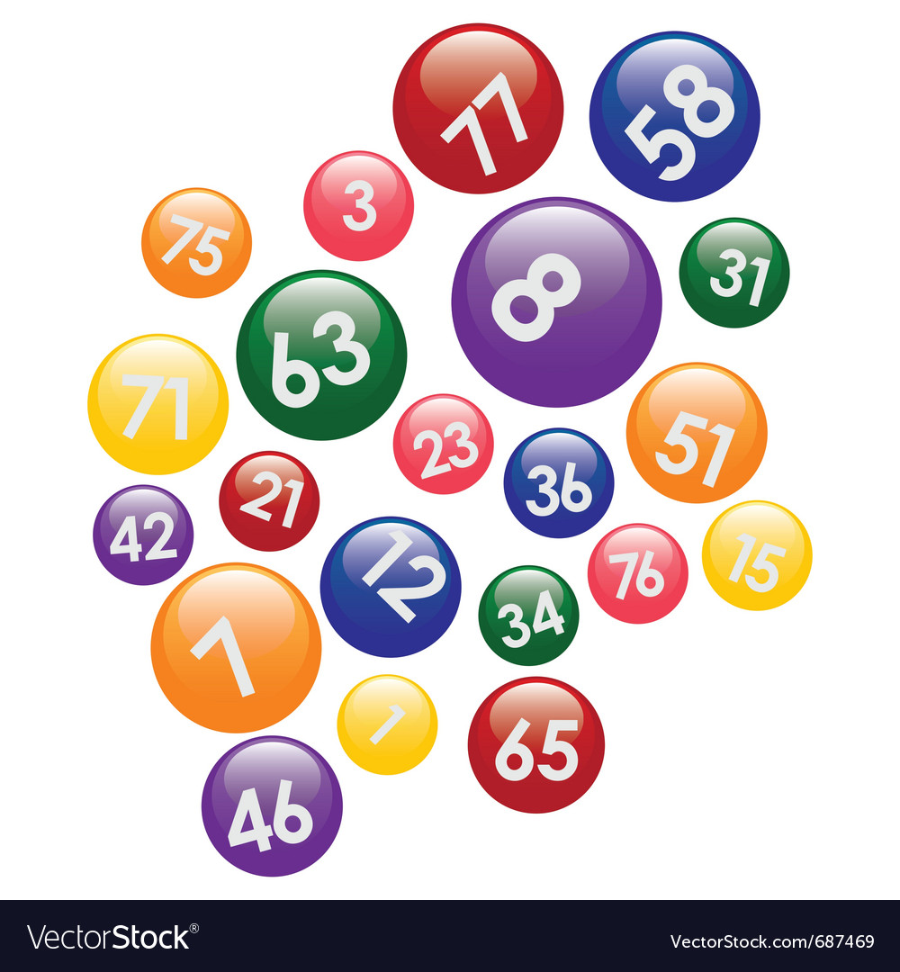 Coloured lottery balls vector | Price: 1 Credit (USD $1)