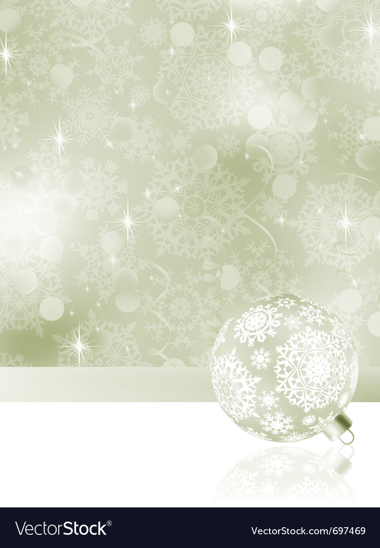 Elegant christmas bauble background vector | Price: 1 Credit (USD $1)