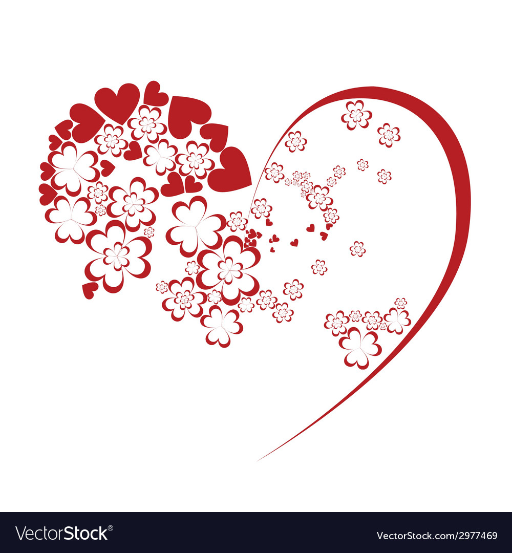 Hearty flowers vector | Price: 1 Credit (USD $1)