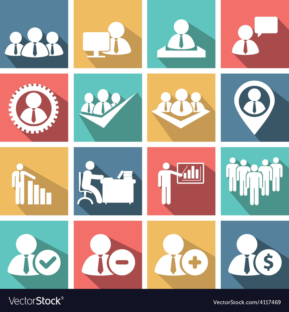 Human resources icons vector   Price: 1 Credit (USD $1)