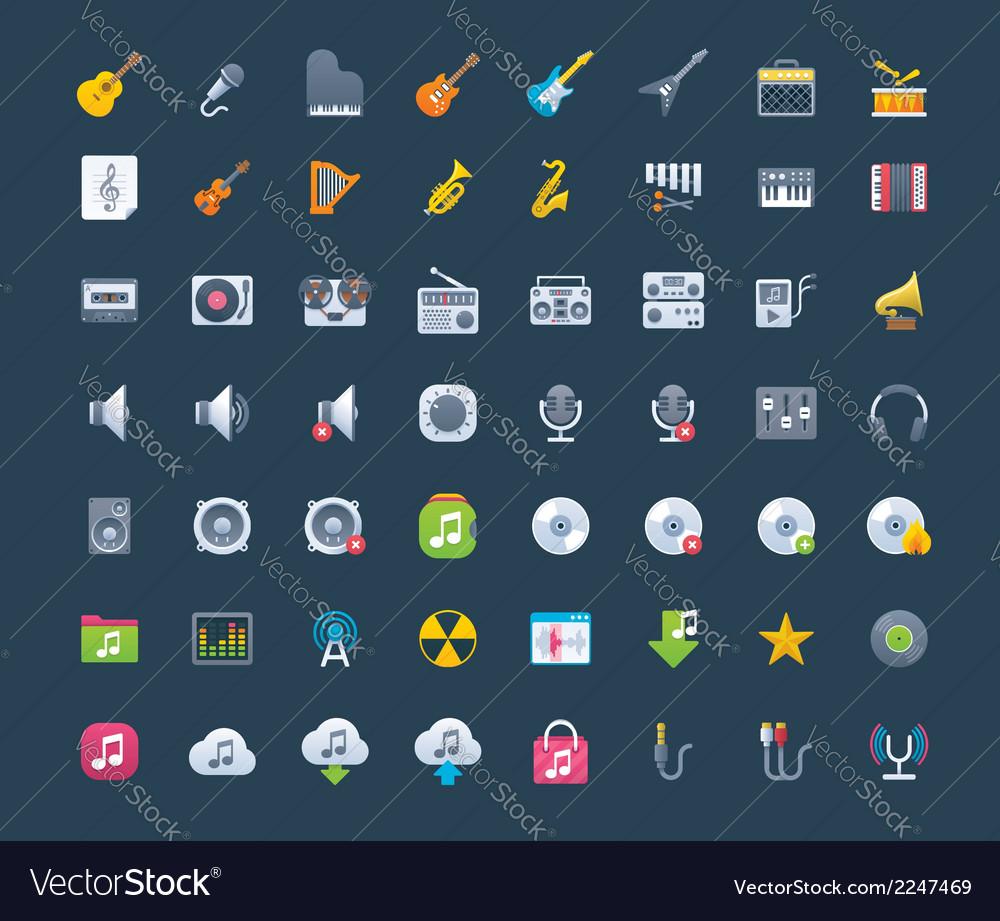 Music icon set vector   Price: 1 Credit (USD $1)