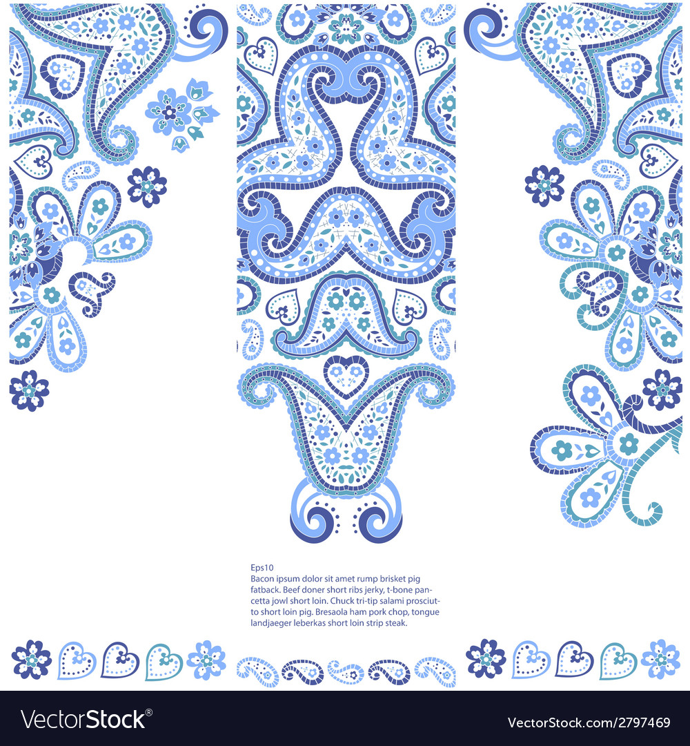 Set of banners with ethnic decorative ornament vector