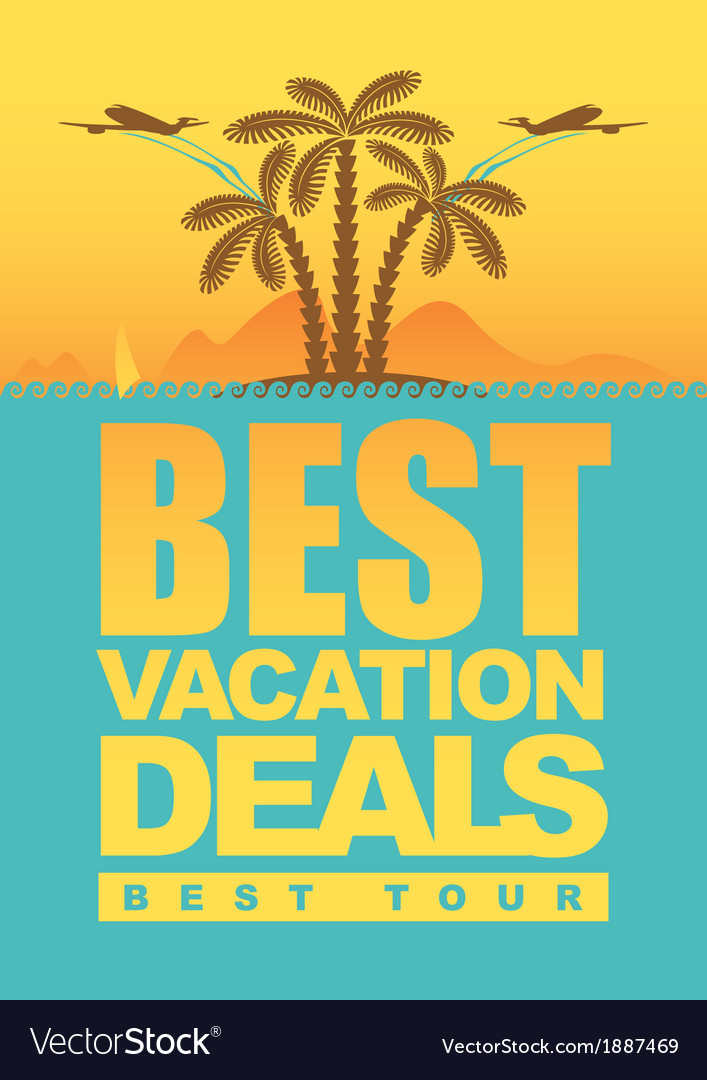 Vacation deals vector | Price: 1 Credit (USD $1)