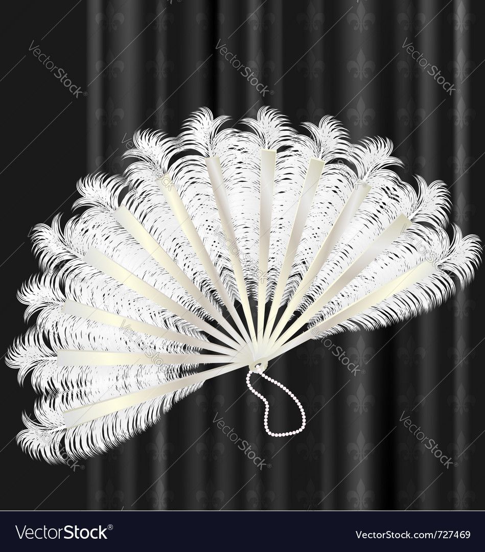 White feathers fan vector | Price: 1 Credit (USD $1)