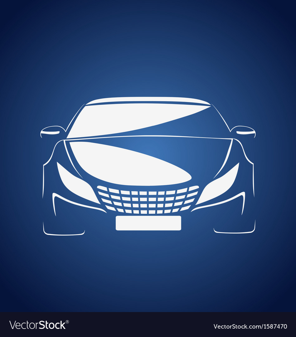 Auto in blue vector | Price: 1 Credit (USD $1)