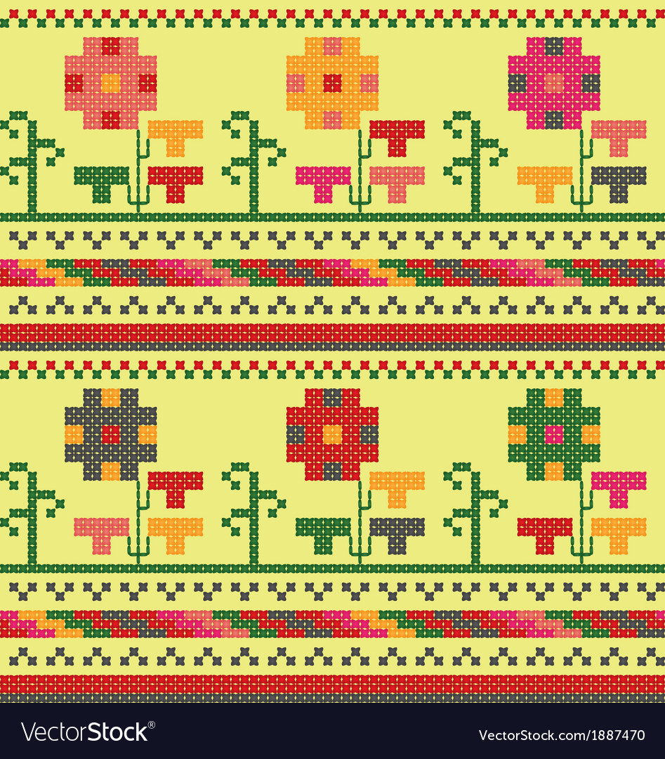 Bulgarian embroidery flower ornament vector   Price: 1 Credit (USD $1)