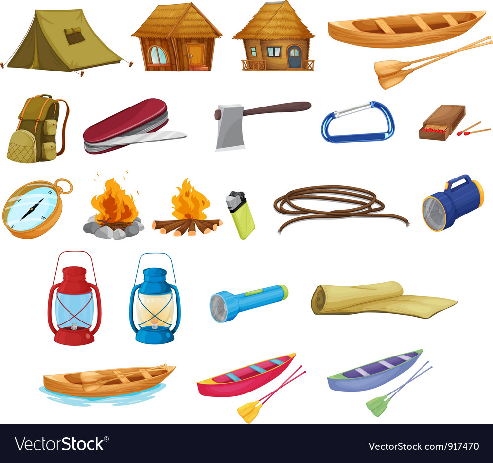 Camping set vector | Price: 3 Credit (USD $3)