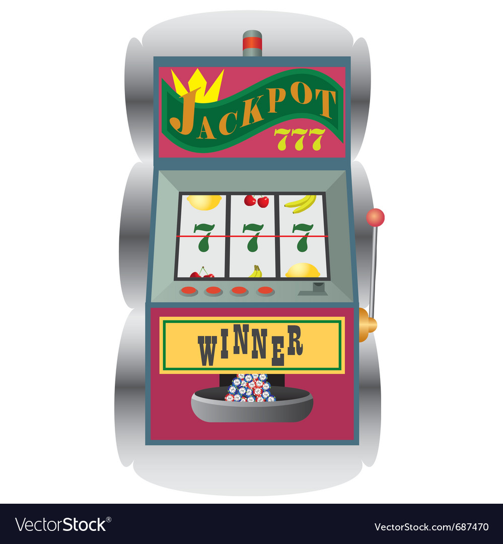Casino slot machine vector | Price: 1 Credit (USD $1)