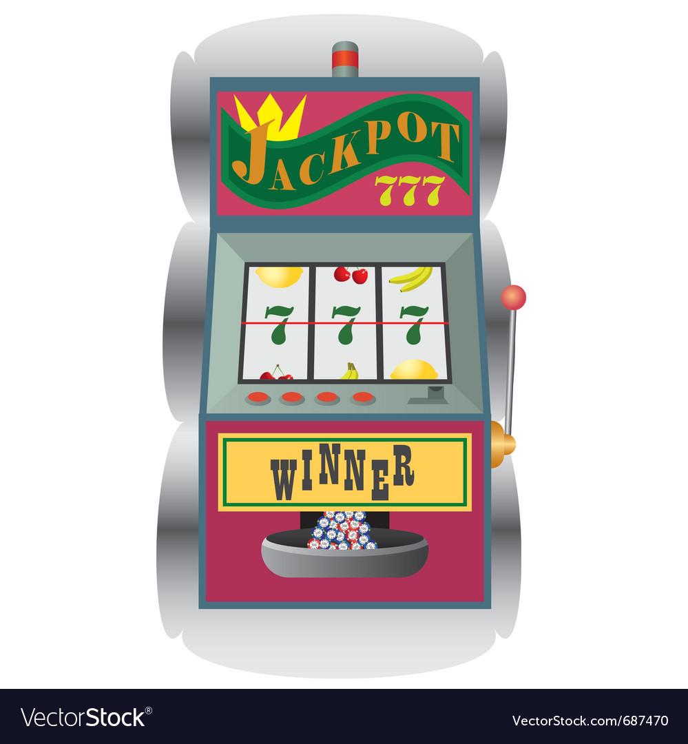 Casino slot machine vector | Price: 1 Credit (USD $1)