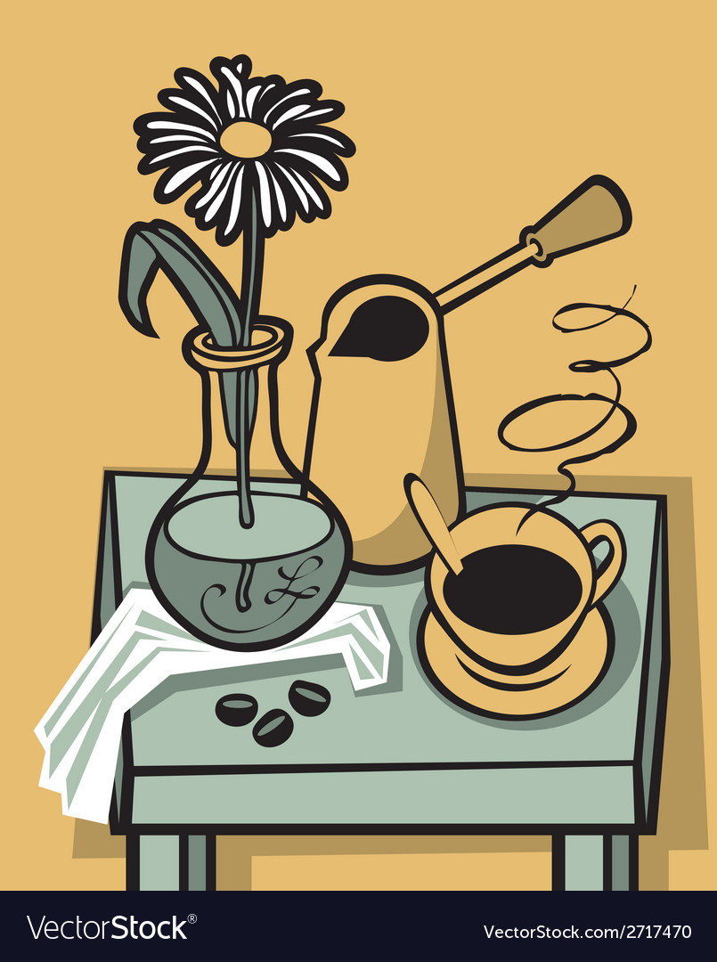 Coffee still life vector | Price: 1 Credit (USD $1)